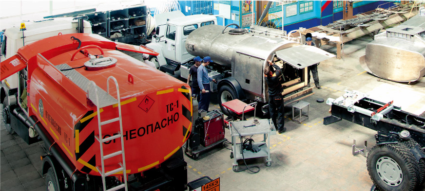 The workshop of aircraft refuellers production
